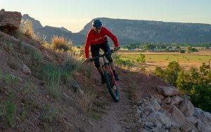 Mountain biking at Escalante Petrified Forest State Park
